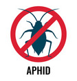 anti-aphid emblem with circle and line vector image