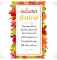 Autumn festival on white vector image vector image