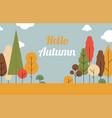 autumn landscape trees are seasonssuper sale vector image