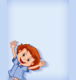 background template design with happy in blue