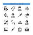 basic medicine icons set vector image