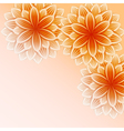 Beautiful wallpaper with orange flowers vector image vector image