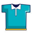 blue polo shirt icon cartoon style vector image vector image
