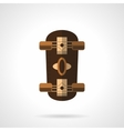 Brown longboard flat color icon vector image vector image