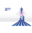 business arrows concept with businessman flying vector image