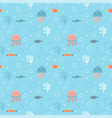 childish seamless pattern with cute hand drawn vector image vector image