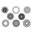 Circle vignette lace ornaments set vector image vector image