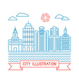 city in linear style vector image vector image
