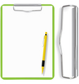 clipboard paper sheet and pen vector image vector image