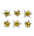 comic text speech bubble pop art set vector image vector image