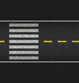 crosswalk top view on asphalt vector image vector image