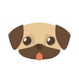 cute doggy brown tongue out vector image vector image