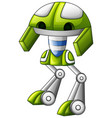 cute robot green cartoon isolated on white backgro vector image vector image