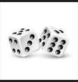 dices on a white background vector image