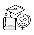 educations line icon concept sign outline vector image
