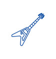 electric guitar line icon concept electric guitar vector image vector image
