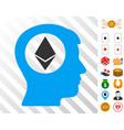 ethereum mind icon with bonus vector image vector image