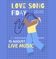 evening live jazz music event advert flat poster vector image vector image