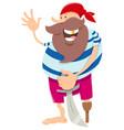 fantasy pirate character cartoon vector image vector image