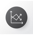 fluctuation icon symbol premium quality isolated vector image vector image