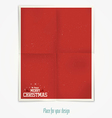 folded paper for holidays vector image