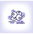 Frosty berries flat icon vector image