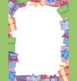 gift box border vector image