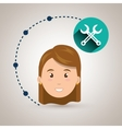 girl connection app icon vector image vector image