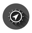 global navigation icon in flat style compass gps vector image vector image