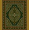 green oriental carpet vector image vector image