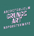 grunge art typeface urban font isolated english vector image vector image