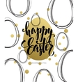 Happy Easter Easter Golden Lettering Egg vector image vector image