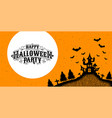 happy halloween party calligraphy logo ghost vector image