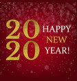 happy new year card with golden text vector image