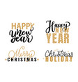 happy new year merry christmas festive greetings vector image vector image
