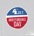 independence day greeting badge patriotic design vector image vector image