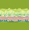 jumgle forest game background flat landscape vector image vector image