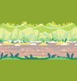 jumgle forest game background flat landscape vector image