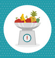 kitchen measure weight utensil icon vector image