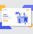 learn science concept vector image