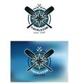 Marine navigator emblem or badge vector image vector image