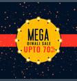 mega diwali sale festival background vector image vector image
