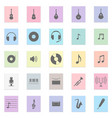 music set black icon on color sticker vector image vector image