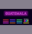 neon name of guatemala city vector image