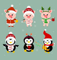 new year and christmas card a set of three vector image vector image
