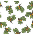 oak branch seamless pattern sketch vector image vector image
