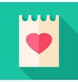 Piece of paper with heart vector image vector image