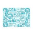polynesian style marine background tribal vector image