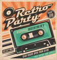 Retro party poster design vector image vector image