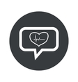 Round dialog cardiology icon vector image vector image